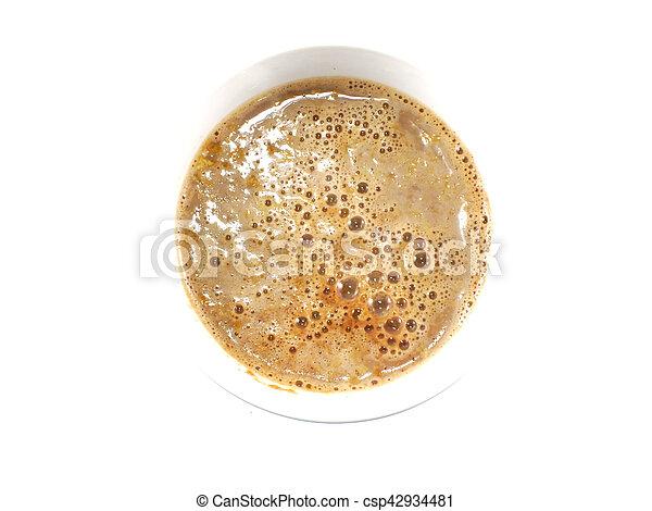 cocoa cereal milk close up - csp42934481