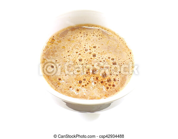 cocoa cereal milk close up - csp42934488