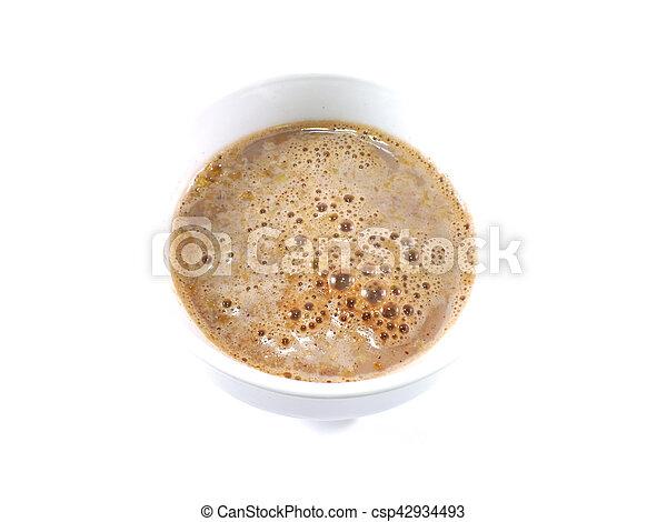 cocoa cereal milk close up - csp42934493