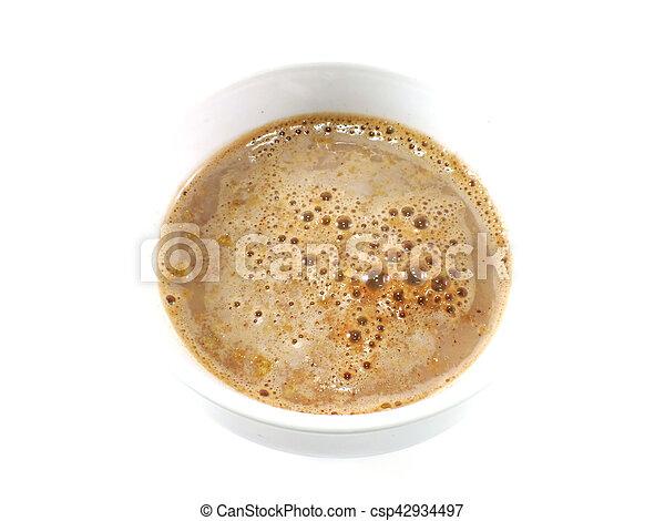 cocoa cereal milk close up - csp42934497