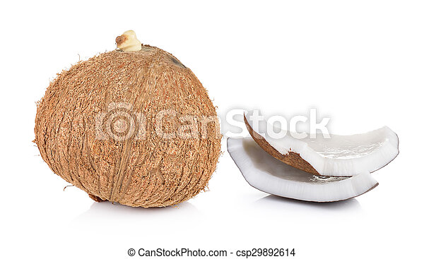 coconut closeup on a white background - csp29892614
