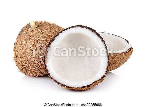 coconut closeup on a white background - csp29255986