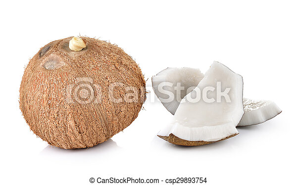 coconut closeup on a white background - csp29893754