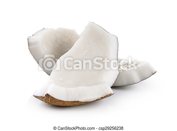 coconut closeup on a white background - csp29256238