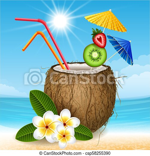 Coconut cocktail - csp58255390