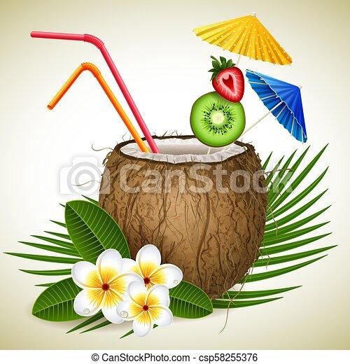 Coconut cocktail - csp58255376