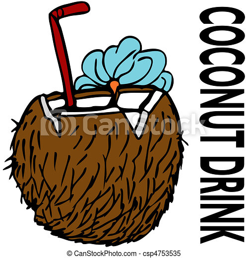 an image of a coconut drink clipart vector search illustration rh canstockphoto com drink clip art free drink clip art pictures