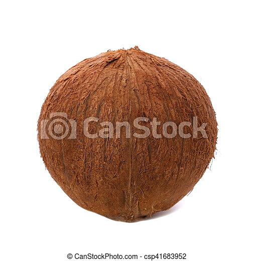 coconut isolated on white - csp41683952