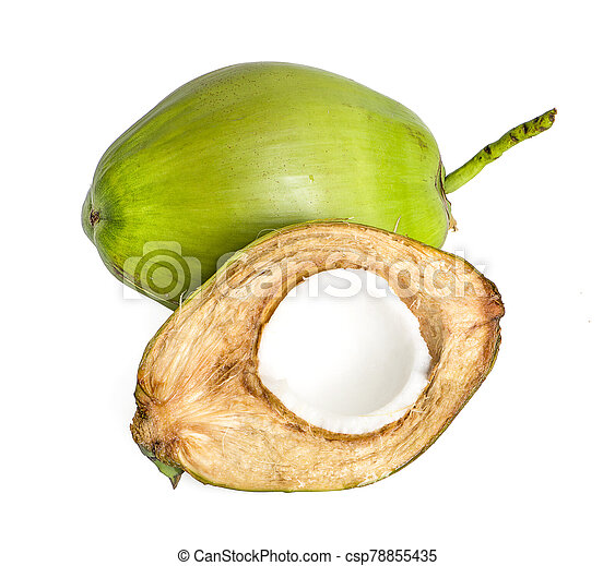 Coconut juice an isolated on white background - csp78855435