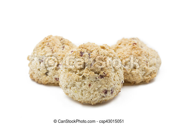 Coconut macaroons, shot with shallow depth of field (DOF) - csp43015051