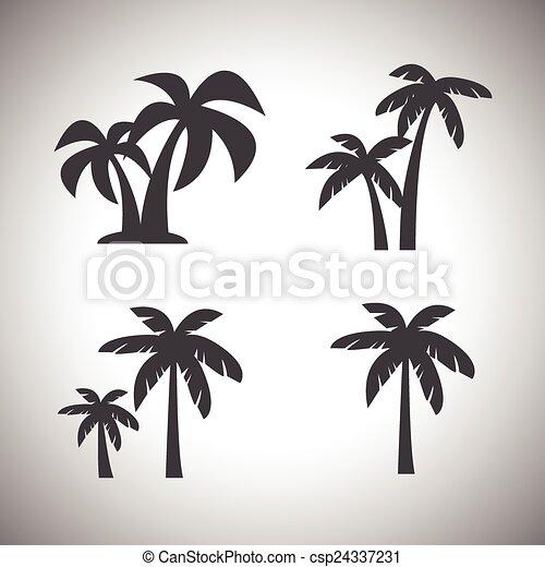 coconut tree icon - csp24337231
