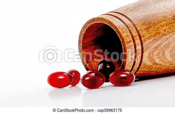 Cod liver oil omega 3 gel capsules - csp39963175