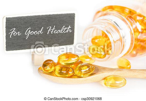 Cod liver oil omega 3 gel capsules. - csp30921068