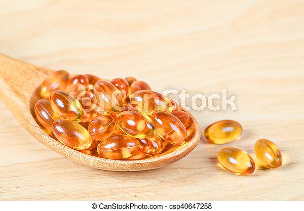 Cod liver oil omega 3 gel capsules - csp40647258