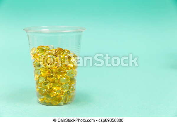 Cod liver oil omega 3 gel capsules - csp69358308