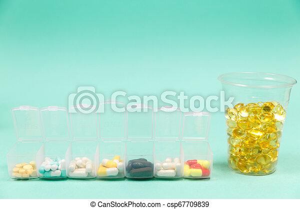 Cod liver oil omega 3 gel capsules - csp67709839