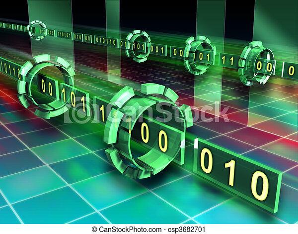 code binaire, ruisseaux - csp3682701