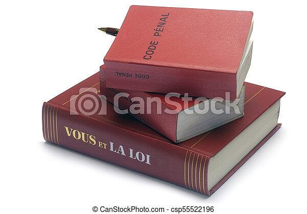 code, livres, légal, francais, penal - csp55522196