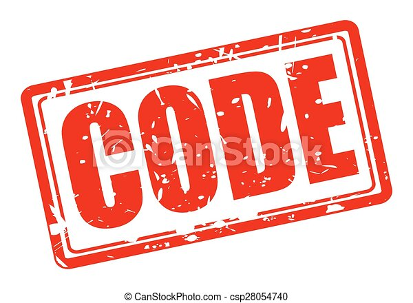 Code red stamp text on white.