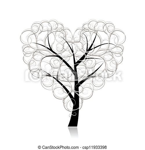 coeur amour arbre forme conception ton vecteurs eps rechercher des clip art des. Black Bedroom Furniture Sets. Home Design Ideas