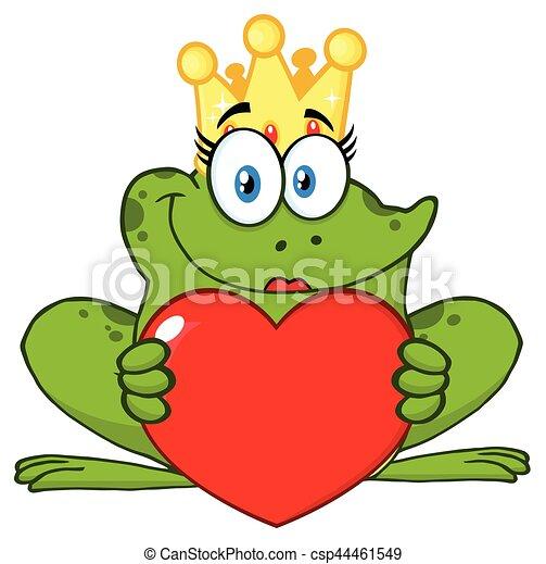 Grenouille Couronne coeur, amour, caractère, couronne, grenouille, princesse, tenue