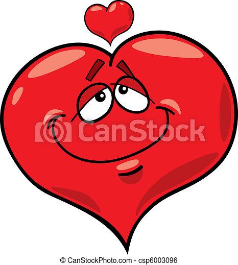 Coeur amour dessin anim illustration - Coeur d amoureux ...