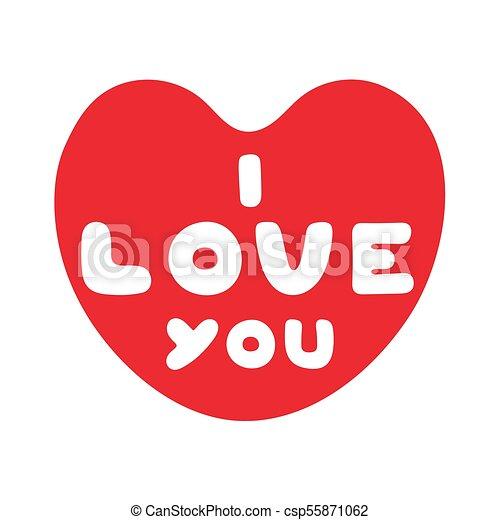 Coeur Amour Mignon Texte Valentines Day Vous Dessin Animé