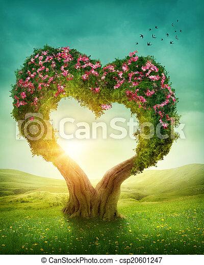 coeur, arbre, formé - csp20601247
