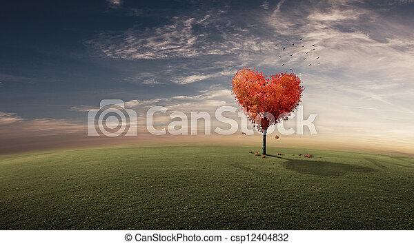 coeur, arbre - csp12404832
