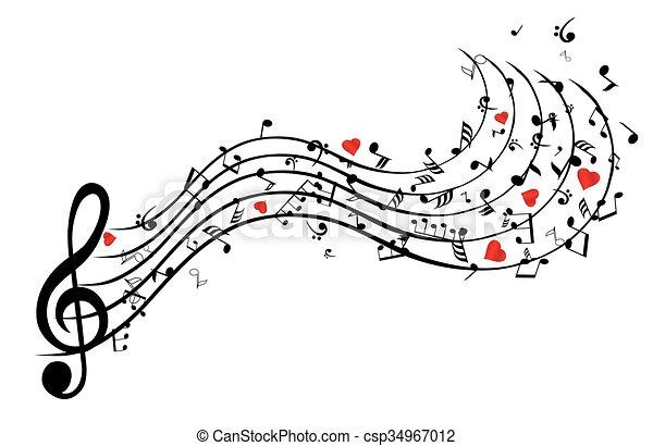 coeur, chanson - csp34967012