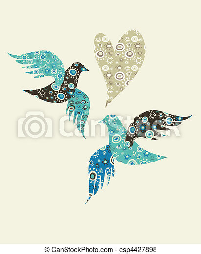 coeur, colombes, deux - csp4427898