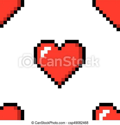 Coeur Couleur Amour Modèle Seamless Pixel Icône