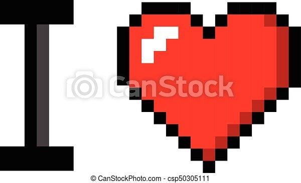 Coeur Couleur Art Valentin Amour Vous Pixel Icône