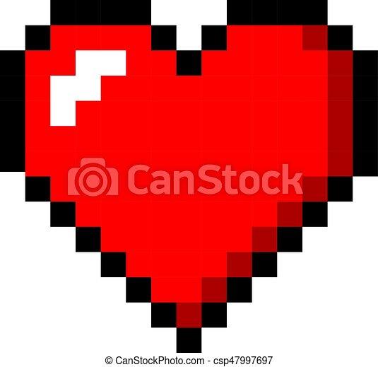 Coeur Couleur Art Valentin Amour Pixel Icône