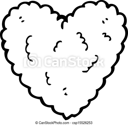 Coeur dessin anim nuage form - Dessin en forme de coeur ...