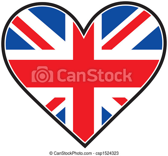 Coeur Drapeau Angleterre