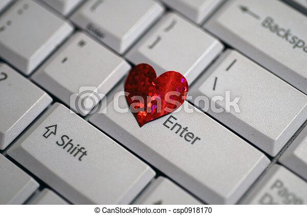 coeur, entrer, mon, jour, valentine - csp0918170