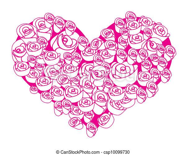 Coeur Fleur Rose Forme Coeur Resume Fleur Forme Rose