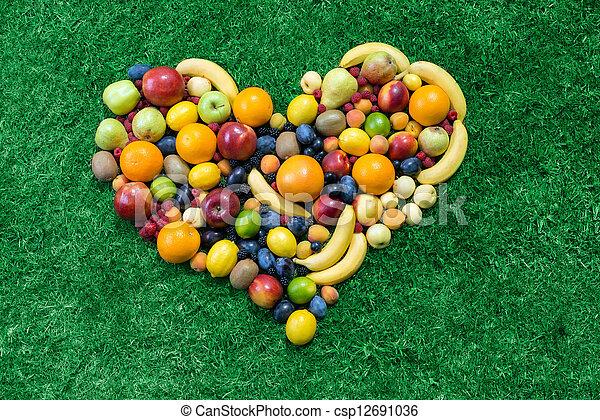 coeur, fruit - csp12691036