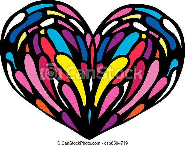 coeur, illustration. - csp8504719