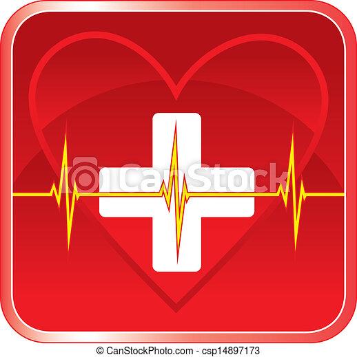 coeur, monde médical, premier, santé, aide - csp14897173