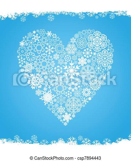 coeur, neige - csp7894443