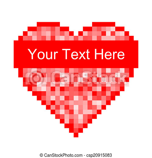 Coeur Pixel Rouges Icône