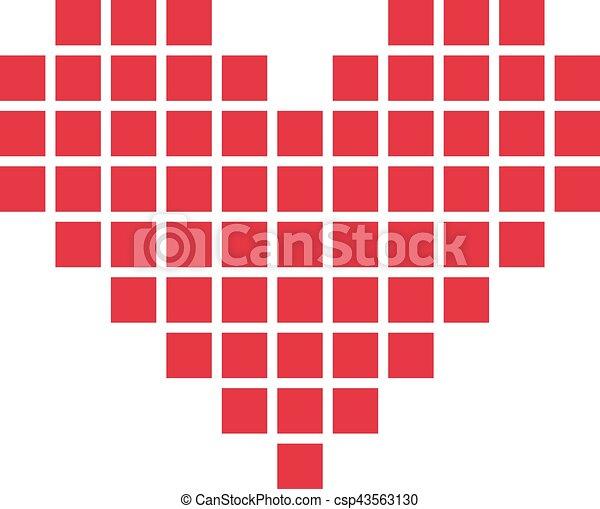Coeur Pixel Canstock