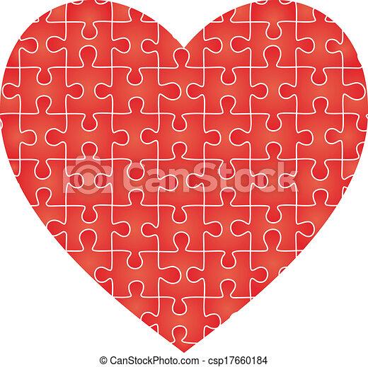 coeur, puzzle, vecteur, pattern. - csp17660184