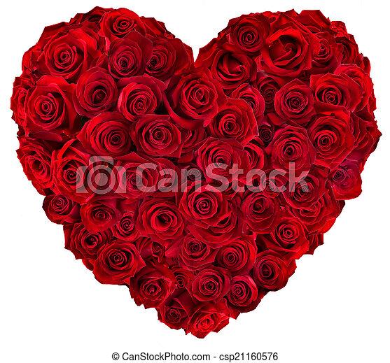 coeur, roses, rouges - csp21160576