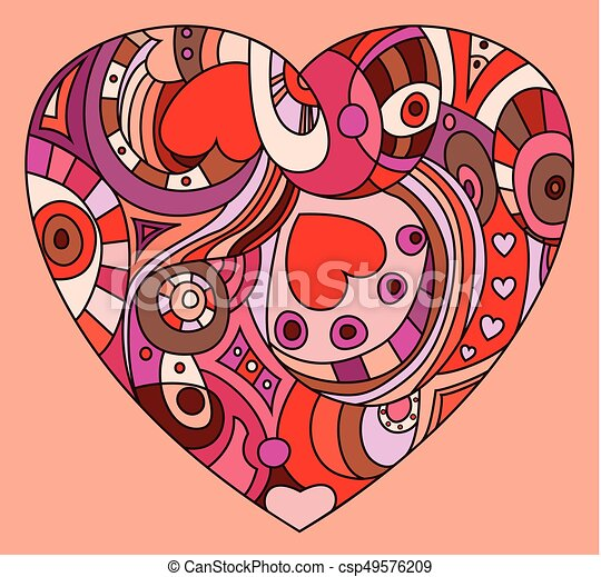 coeur, rue., symbole, valentines, -, jour - csp49576209