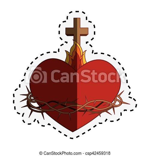 coeur, sacré, jésus - csp42459318