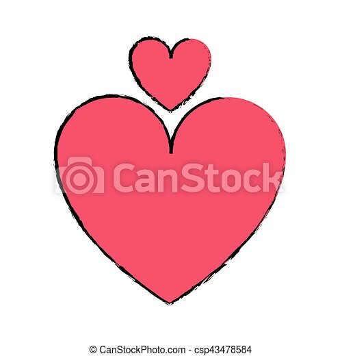 Coeur Symbole Amour Dessin Romantique