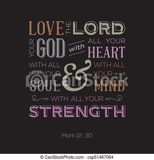 Coeur Usage Bible Amour Affiche Dieu Ou Tout Typographie Citation Impression Seigneur Marque Ton